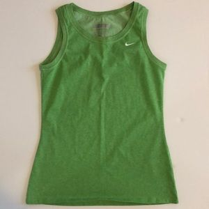 Women's Nike Fit Dry tank, Heathered Green, Size M
